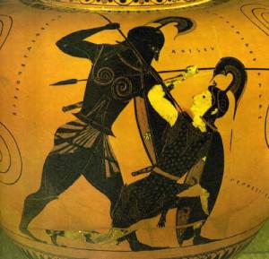 Scontro tra Ettore e Achille