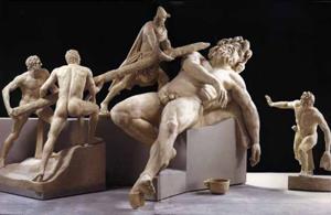 Ulisse e i suoi compagni accecano Polifemo